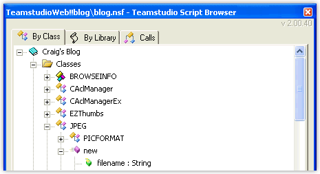 Teamstudio Script Browser