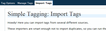 Import Tags