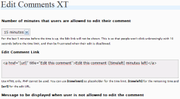 Edit Comments XT