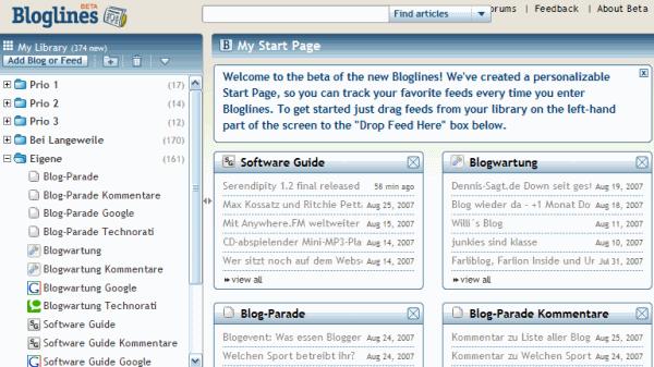 Bloglines Start