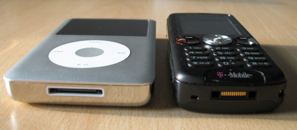 iPod Classic mit Handy