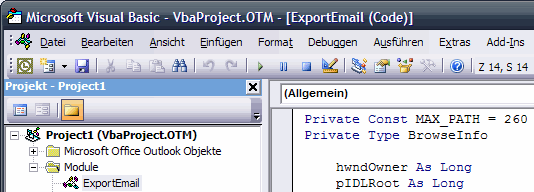 Outlook VBA
